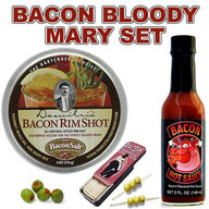 Bacon Bloody Mary Set - Bacon Cocktail Rim Salt, Hot Sauce & Toothpicks