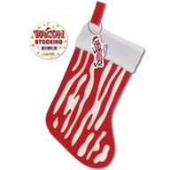 Bacon Stocking - Bacon Red & White Holiday Christmas Stocking