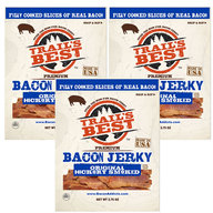 Trail's Best Bacon Jerky - Hickory Smoked - 100% Real Bacon Slices (3 Bags)