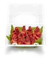 Bacon Roses - One Dozen Bacon Rosette Bites (NO STEM)