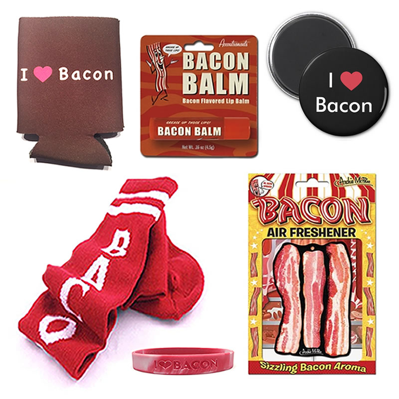 Deluxe Bacon Lovers Gift Pack (6pc Set) - Bacon Socks, Drink ...