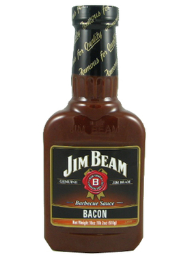 Jim Beam Bourbon Bacon BBQ Barbecue Sauce (18 oz bottle)