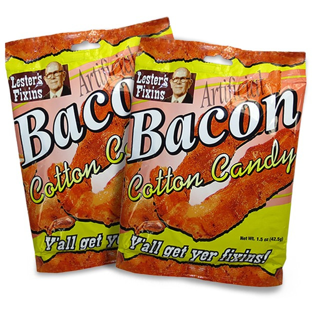 bacon cotton candy 2 pack bacon flavored cotton candy. Black Bedroom Furniture Sets. Home Design Ideas