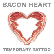 Bacon Love Tattoo - Large Bacon Heart Temporary Body Art Unisex
