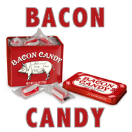 Bacon Candy - Red & White Striped Bacon Flavored Hard Candies