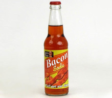 Bacon Soda - Lester's Fixins Meat Flavored Soda Pop (12 oz Bottle)