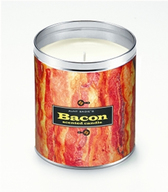 Bacon Scented Candle Sizzlin Bacon Scent Gag Gift (16 oz Crispy Design)
