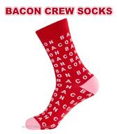 Bacon Crew Socks - Unisex Dress Socks