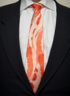 Bacon Neck Tie - Men&#x27;s Necktie Novelty Meat Neckwear (54 inches)