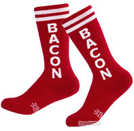 Kid's Bacon Gym Socks - Kids Knee High Unisex Retro Athletic Tube Socks
