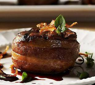 Double Smoked Bacon Wrapped Fillet Mignon With Caramelized ...