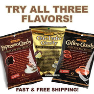 Bali's Best Cafe Latte, Espresso & Real Coffee Candy Caffeine On The Go (3 Pack)