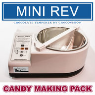 Chocovision Mini Rev (Rev1) Chocolate Tempering Candy Making Pack Gift Set
