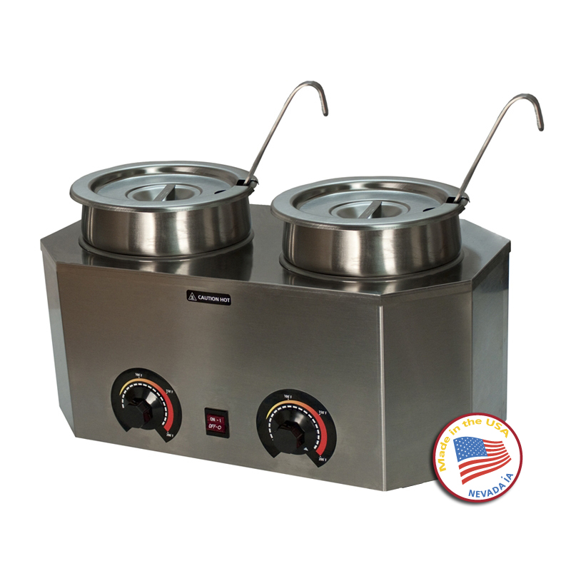 Chocolate Warmer Melter Dual Well Two Temp
