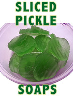Sliced Pickle Soaps - Dill Scent Pickel Scented Soap (8 pc)