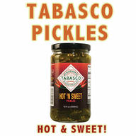 Tabasco Pickles Hot 'N Sweet Spicy Sliced Pickle (12 oz jar)