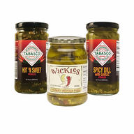 Spicy Pickle Combo Gift Pack - Wickles Pickles, Tabasco Hot N Sweet & Tabasco Garlic Dill