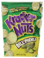 Dill Pickle Kracker Nuts - Cracker Coated Peanuts Snack (6 oz Bag)