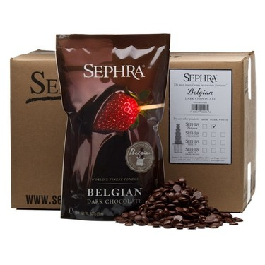 Sephra Belgian Dark Chocolate - Fountain Ready Fondue (20lb case)