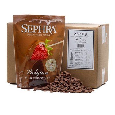 Sephra Belgian Milk Chocolate - Fountain Ready Fondue (20lb case)
