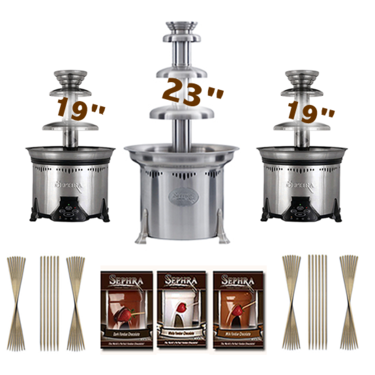 "Sephra 23"" Cortez Chocolate Fountain Business Package"