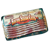 Thick Sliced Peppered Country Bacon Steaks - 4 x 1 lb Packages - Thick Cut Pepper Coated Gourmet Smokehouse Bacon Gift Box