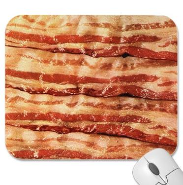Bacon Mousepad - Bacon Strips Computer Mouse Pad