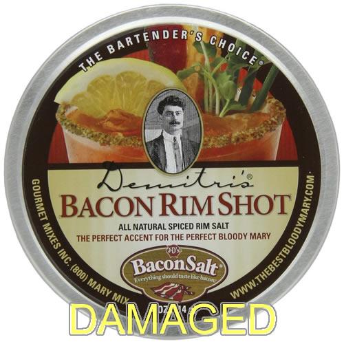 Damaged bacon rim salt