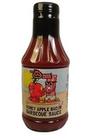 Sweet Honey Apple Bacon BBQ Barbecue Sauce (16 oz bottle)
