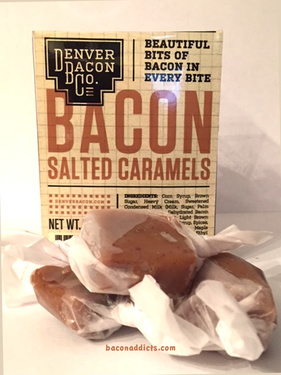 Bacon Salted Caramels 10pc - Soft Chewy Bacon Carmels Candy (5.75 oz)