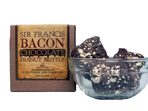 Sir Francis Bacon Chocolate Peanut Brittle (3 oz Box)