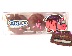Bacon Milk Chocolate Covered Oreos - Double Stuf Oreo Cookies Dipped in Milk Chocolate