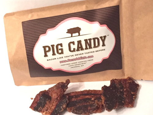 Pig Candy - Sweet & Savory Brown Sugar Spiced Artisan Candied Bacon (4oz Bag)