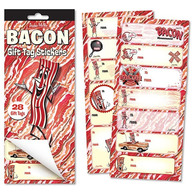 Bacon Gift Tags - To / From Holiday Gift Tag Stickers (28ct Booklet)