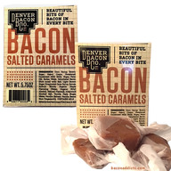 Bacon Salted Caramels - 2 PACK - Soft Chewy Bacon Carmels Candy (5.75 oz each)