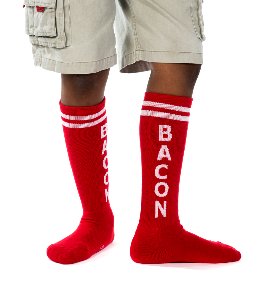 Bacon socks kids in use