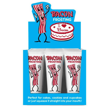 BULK Bacon Frosting - Bacon Flavored Icing Cake Decorating (12ct Retail Case)