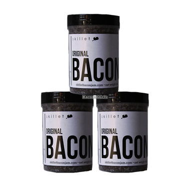 Skillet Street Bacon Jam (3 pack) - Bacon Chutney Spread (3 x 4 oz Jars)