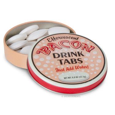 Effervescent Bacon Flavor Drink Tabs - Fizzy Beverage Tablets