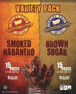 Curley Tail Candied Bacon Variety Pack -Thick Cut Sweet & Spicy Candied Bacon (30 pieces)