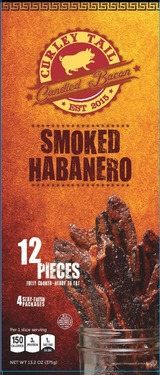 Curley Tail Smoked Habanero Candied Bacon -Thick Cut Spicy Candied Bacon (12 pieces)
