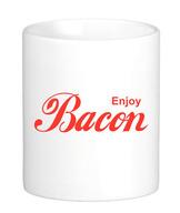 Enjoy Bacon Coffee Mug - Classic White Coffee Tea Cup