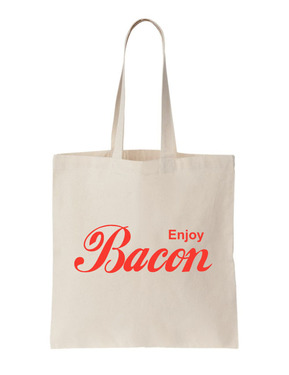 Enjoy Bacon Tote - Natural Canvas Bag