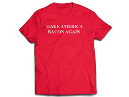 Make America Bacon Again Tee Shirt - Unisex Adult T-Shirt (Red)