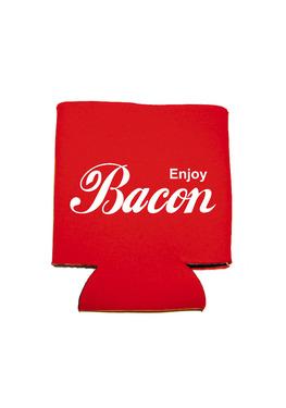Enjoy Bacon Koozie - Neoprene Drink Cooler Sleeve (Red)