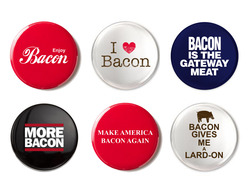 Bacon Buttons (6pc Set) - Assorted Style & Colors