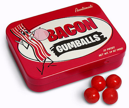 Bacon Gumballs - Bacon Flavored Chewing Gum Balls (1.4 oz Gift Tin)