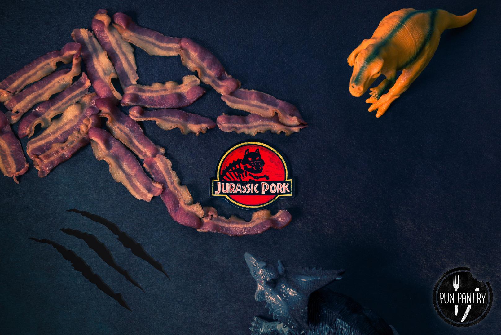 Jurassicpork magnet logo