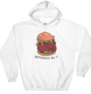 Notorious BLT Hoodie | Pun Pantry 90s Biggie HipHop Gift Funny Foodie Hooded Sweatshirt