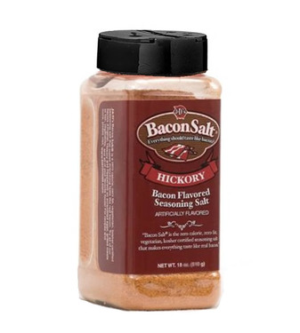 J&D's Big Pig Hickory Bacon Salt (Jumbo 16 oz) - Low Sodium Bacon Flavored Seasoning